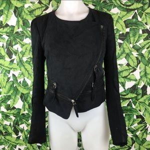 McGinn  Anthro black Moto jacket 🧥size Medium